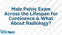Male Pelvic Exam Across the Lifespan for Continence & What About Radiology?
