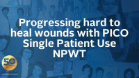 Progressing hard to heal wounds with PICO Single Patient Use NPWT icon