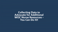 Collecting Data to Advocate for Additional WOC Nurse Resources - You Can Do It!! icon