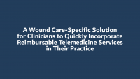 A Wound Care-Specific Solution for Clinicians to Quickly Incorporate Reimbursable Telemedicine Services in Their Practice