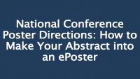 National Conference Poster Directions:  How to Make Your Abstract into an ePoster icon