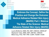 The State of the Science: Medical Adhesive Related Skin Injury (MARSI) icon