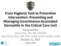 From Hygienic Task to Preventive Intervention: Preventing and Managing Incontinence Associated Dermatitis icon
