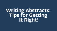 Writing Abstracts: Tips for Getting It Right! icon