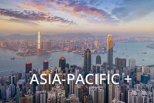 hong kong skyline with text asia-pacific+