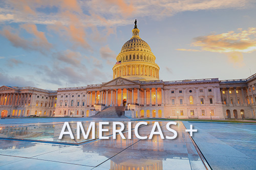 us capitol building with text americas+
