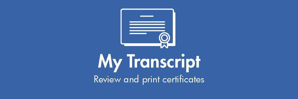 View and print certificates