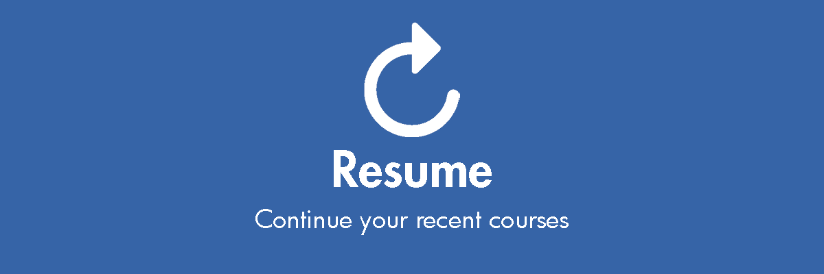 Resume your online learning
